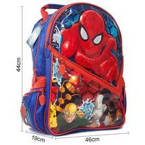 Mochila De Espalda Spiderman Hombre Araña 17´´ Original