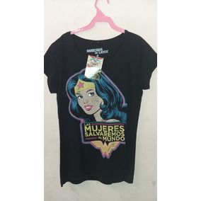 Playera Mascara De Latex Mujer Wonder Woman