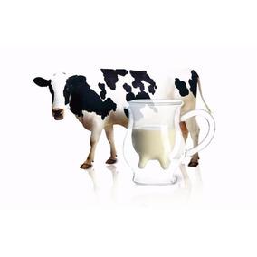 Taza De Doble Cristal Estilo Vaca De Ubre 350ml