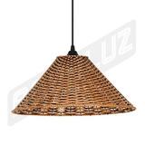 Luminária Pendente - Palha Artificial - Chapéu Chinês - 4877