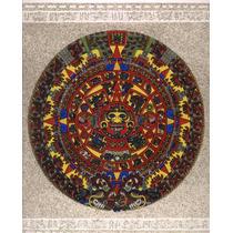 Cuadro De Arena Prehispanico Calendario Azteca