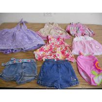 Lote 8pz Vestido Traje Short Niña Bebe Talla 1 Año Ropa F649