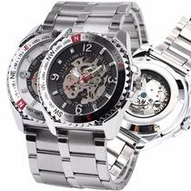 Relógio Masculino Mecânico Automático Caixa Transparente