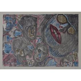 Rubens Gerchman - Serigrafia - Rostos - Acid - 3s Arte