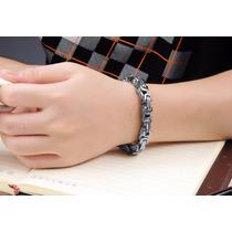 Bracelete Pulseira Bizantino Aço Cirúrgico Inox Prata 6mm