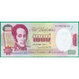 Billete De 1000 Bolívares Febrero 5 De 1998 Serial K9