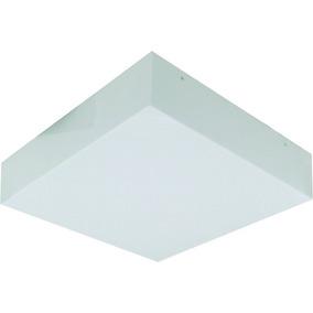 Luminaria 35x35 De Sobrepor Acrilico Leitoso Lustre Promocao