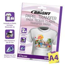 Papel Transfer Jato De Tinta 10 Folhas 00121 - Bright