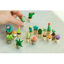 Dijes Cactus Porcelana Fria