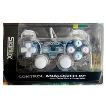 Joystick Para Pc Dual Shock Analogico Transparente Gtia Data