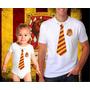 Kit Harry Potter Tal Pai Tal Filho Grifinória Camiseta 142