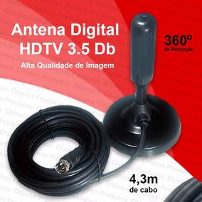 Antena Interna Tv Digital Tomate Hdtv Dtv Sinal Digital
