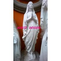 Virgen Lourdes 65 Cemento Blanco Estatua