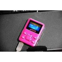 Mini Mp3 Player Novo Rosa 2gb