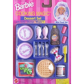 juguete barbie cocinar magic postre conjunto