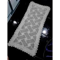 Passadeira De Crochê Em Barbante 1,50mx50cm Várias Cores