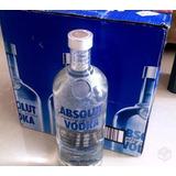 Caixa 12 Unidades Vodka Absolut Litro Original Frete Grátis