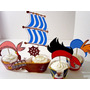 Kit Imprimible Jake Piratas Cupcake Wrapper Topper Capacillo