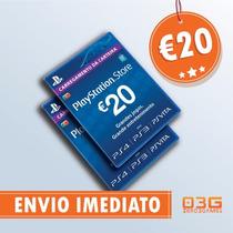 Psn Card 20 Eur Portugal Cartão Playstation Network Imediato