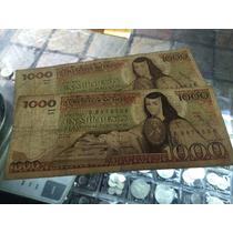 Billete Mil Pesos Sor Juana Con Tintero Condición Usado