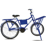 Bicicleta Cargueira Azul Aro 26 Sport Bike