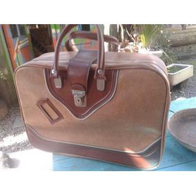 Valija Cuerina Vintage Decoración Viajes Recuerdos