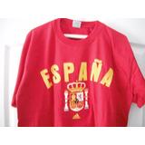 Camiseta Fútbol España Talla M Franela Algodón