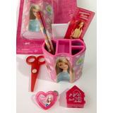 Set 9 Productos Coleccionable Y Escolares De Barbie Original