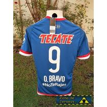 Jersey Chivas Visita Azul Retro Omar Bravo 9 No Te Rajes ¡¡