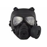 Máscara De Proteção Airsoft Fma Modelo Anti Gás Preto