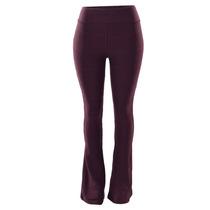 Calças Feminina Flare Em Bandagem Cintura Alta Hot Pants