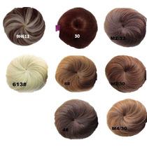 Cebolla Postiza Peinado Hermoso Fibra Natural Varios Tonos