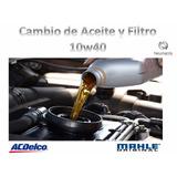 Lubricentro Cambio De Aceite 10w40 Y Filtro Aceite De Auto