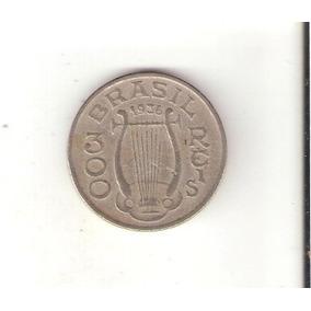 Linda Moeda 300 Réis De 1936 - Carlos Gomes - Vejam A Foto !