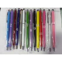 Lapicero Stylus Metalico Universal No Usa Baterias Colores