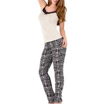 Pijama Conjunto Pantalon Tirantes Encaje N4515 Vicky Form