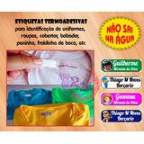 Etiqueta Personalizada - Termocolante Para Roupa - Unidade