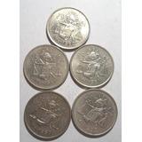 (5 Pz.) 25 Centavos 1950, 1951 Y 1953 3.33g. Ley 0.300 Plata
