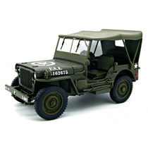 1:18 Jeep Willys 1/4 Ton Militar Welly Us Army Hardtop 18036