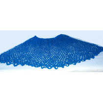Capa Azul Turquesa Tejida A Mano