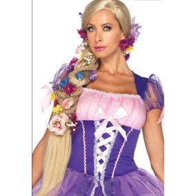 Peluca Rapunzel Enredados Adulto Sin Flores Más De Un Metro