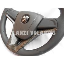 Volante Esportivo Cruze Cubo Peugeot 106 206 306 Carbono