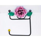 Cabideiro De Ferro Com Flor (porta Papel Higienico) (fp)