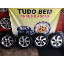 Jogo De Rodas Hyundai Hb20 2016 + Pneus 185/60r15 Goodyear