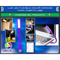 Luz Led Flexible Para Usb - Color Morado