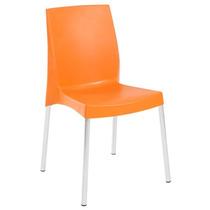 Cadeira Viena Plastico Polipropileno Laranja