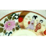 Taza Té Japón Porcelana Cáscara De Huevo Policromía Y Oro.