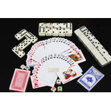 Set De 2 Poker Domino Dadosx 5 Kit Cartas Casino Juego Azar
