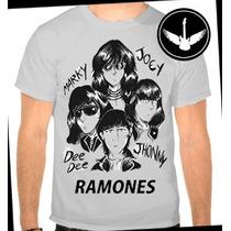 Camiseta Ramones Baby Look Regata Banda Rock Camisa Blusa