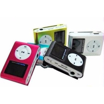 Mp3 Clip Pantalla Lcd Radio Fm Micro Sd Hasta 32gb Metalico